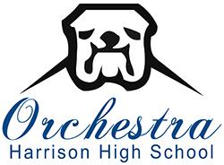 Orchestra logo with bulldog